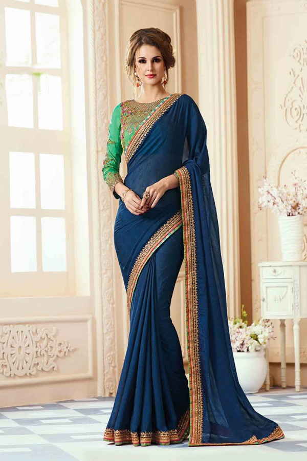 Georgette-Heavy-Embroidery-sarees
